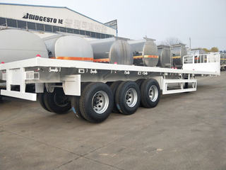 CONTAINER SEMI TRAILER WITH FRONT BOARD