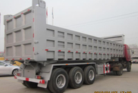 3 AXLES REAR TIPPER SEMI TRAILER